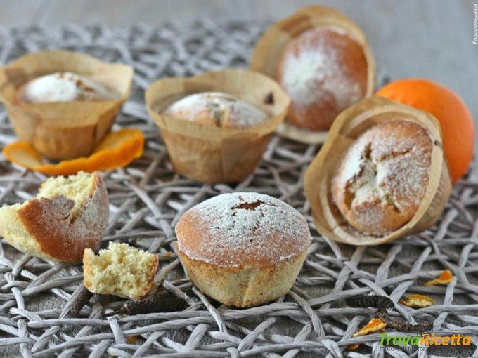 Muffin di albumi con mandarini e pepe del Bengala