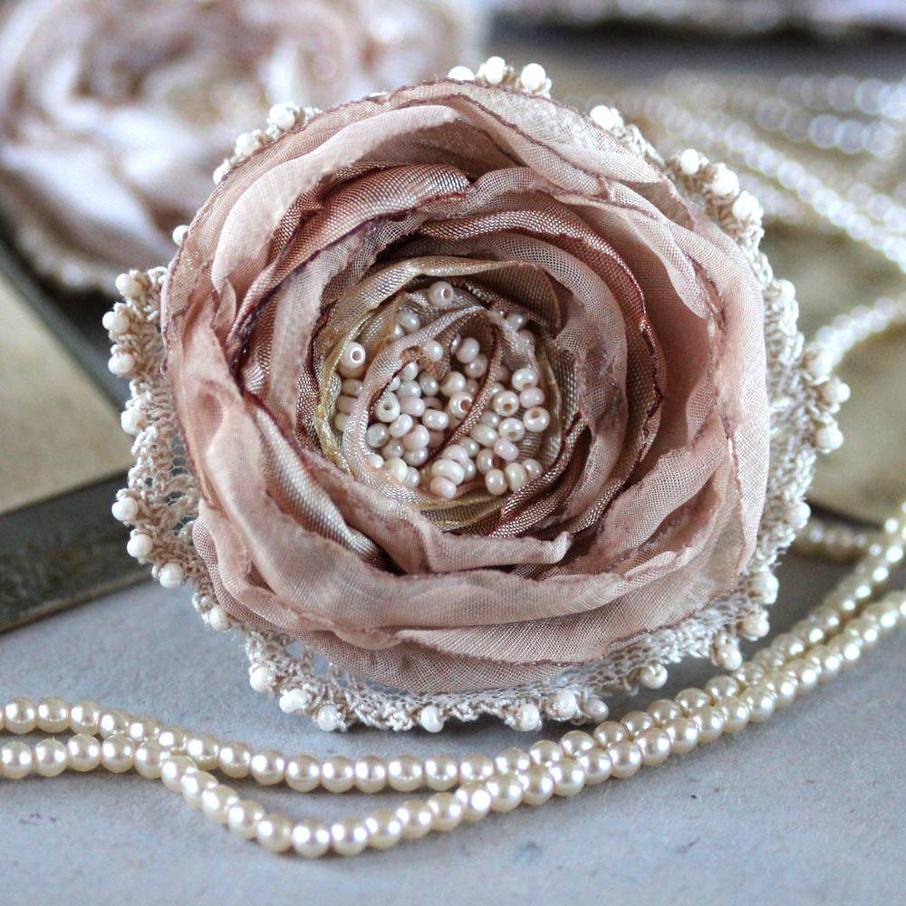 Брошь цветок из ткани купить москва, цветов онлайн новосибирск