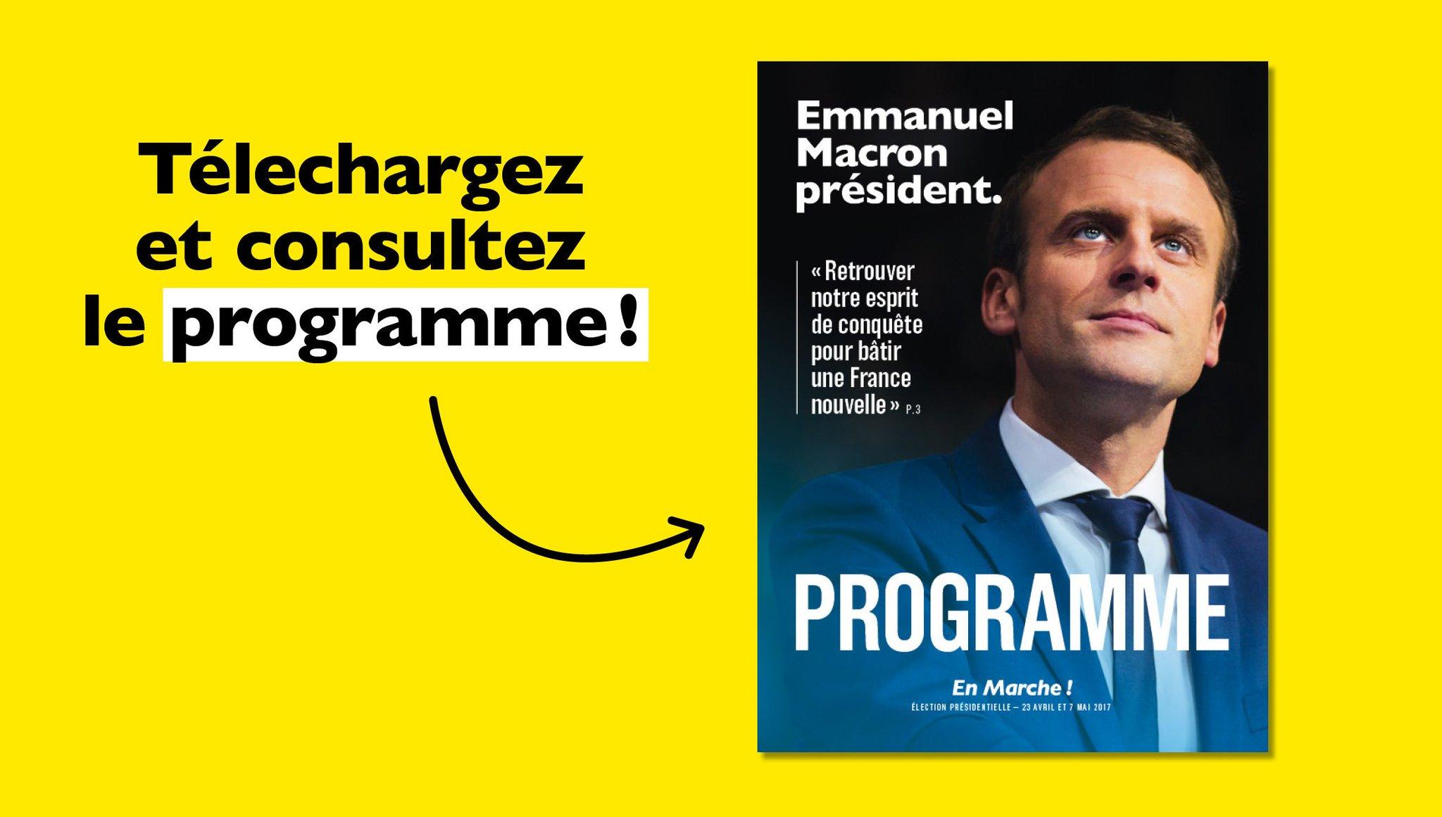 Emmanuel Macron A Twitter Le Programme Que Je Propose Libere Et Protege Rtlmatin Programmeem Https T Co Udky1idyvb