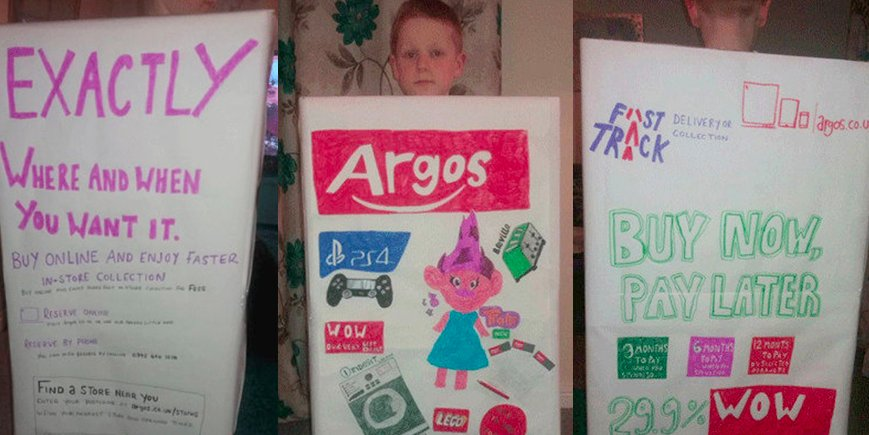 Book Day : Argos catalogue outfit worst Book Day costume