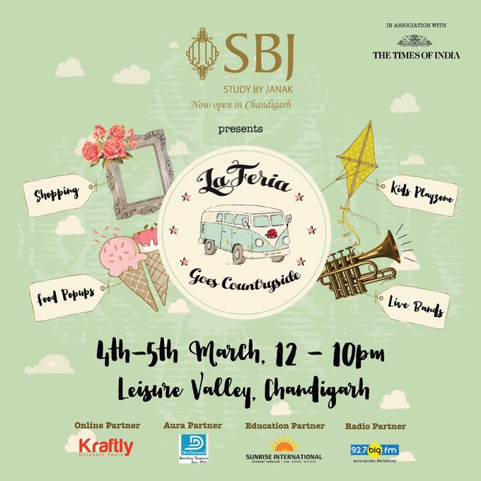 La Feria coming to Chandigarh for the third time. Guys gear up! #SBJpresentsLaFeria  #leisurevalley @AhujaAakriti https://t.co/p4d3ikwOiD