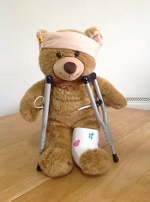 Image result for bear in crutches