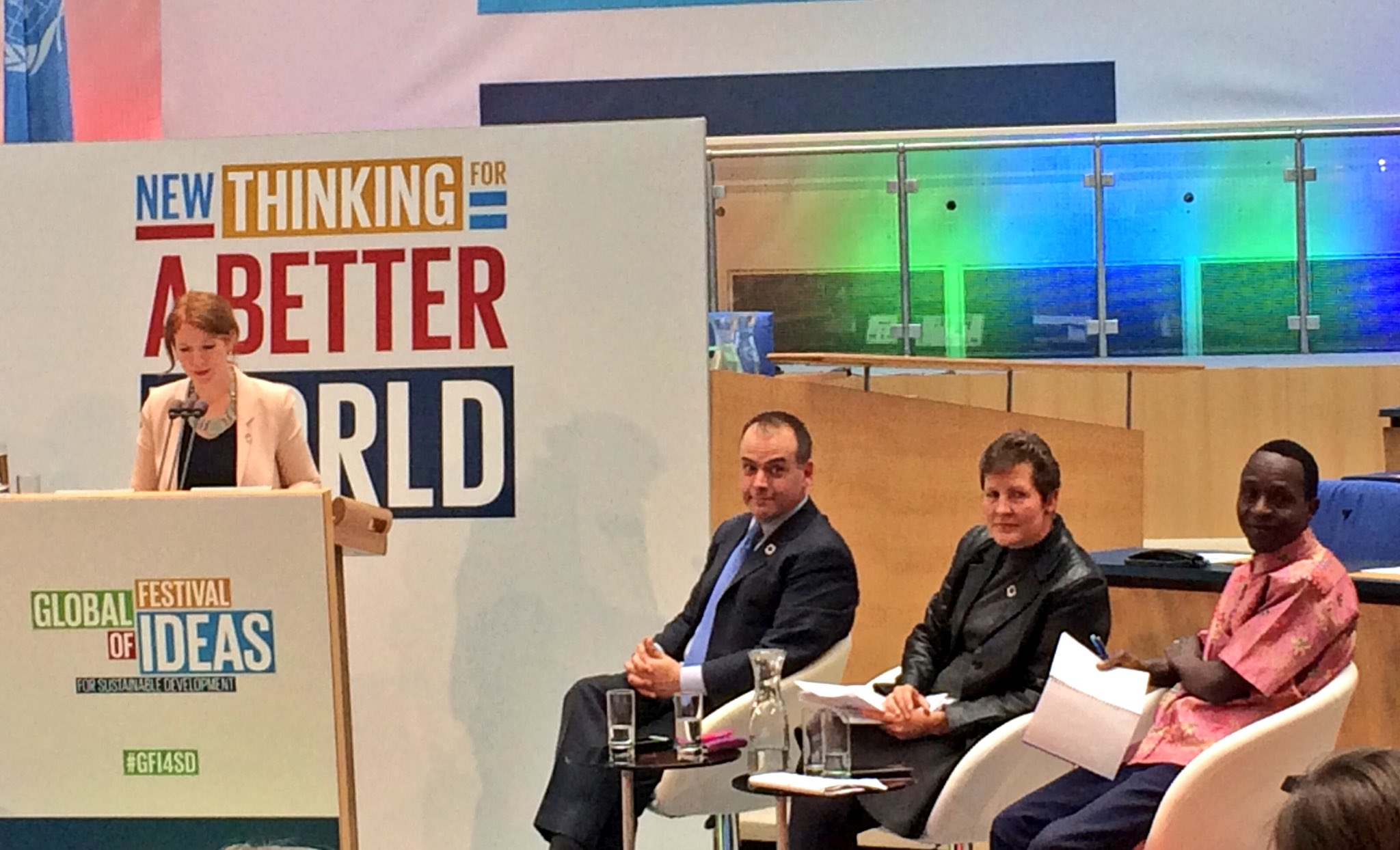 'We've all come together around a common goal... how can we ensure a sustainable world for our future?' Asks Sarah Poole @UNDP #GFI4SD https://t.co/4AWO2dkQck