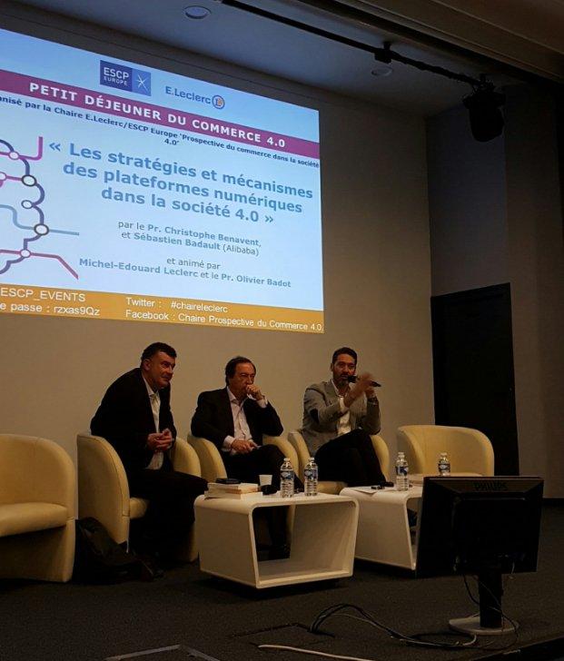 Ce matin, @Sebadault était aux côtés de Michel-Edouard Leclerc pour parler commerce 4.0 #chaireleclerc @AlibabaGroup #ClientStories https://t.co/Rr3CMB2f5H