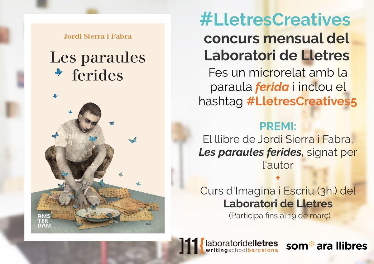 """Concurso de """"Laboratori de Lletres"""" de microrrelato"""