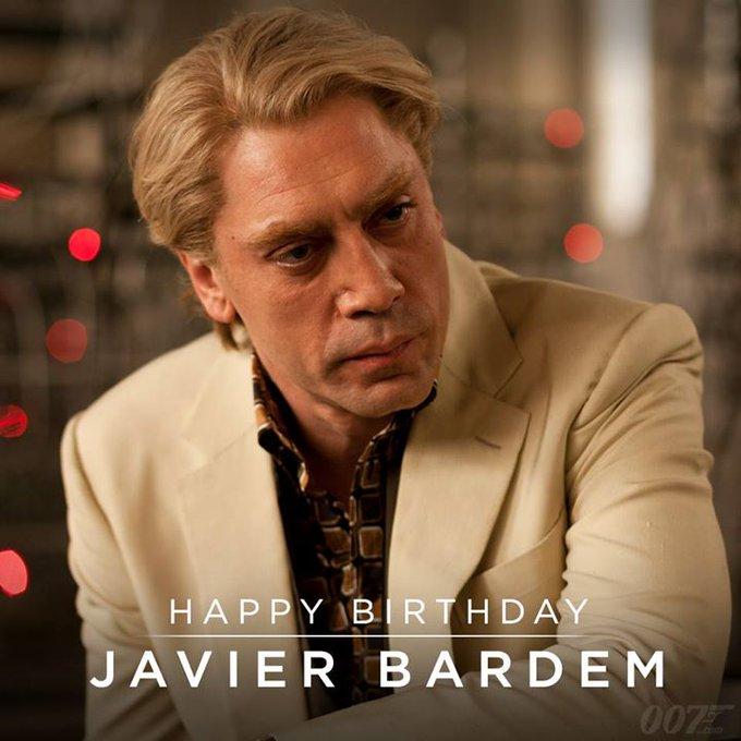 Happy Birthday to Javier Bardem. He played vengeful villain Silva in SKYFALL..