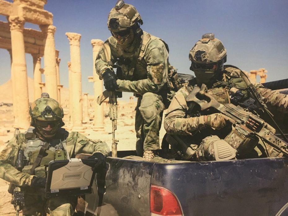 На интернет се појавија фотографии со борци на Силите за специјални операции на ВС РФ во Сирија. Повеќе на линкот https://defence.ru/article/vezhlivie-lyudi-v-palmire-opublikovani-foto-sso-v-sirii/ …