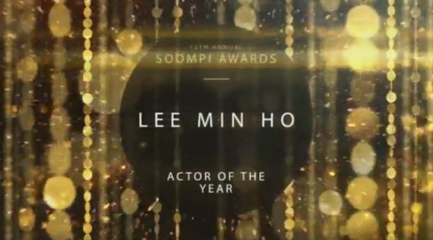 #soompiawards2016 ประกาศแล้ว Actor of the Year #LeeMinho สัมมินนาที 14.41 Drama of the Year Best Couple  https://www. facebook.com/soompi/videos/ 10154843723620907/?permPage=1 &nbsp; …  cr.via dcLMH<br>http://pic.twitter.com/XnMOYgoBKC