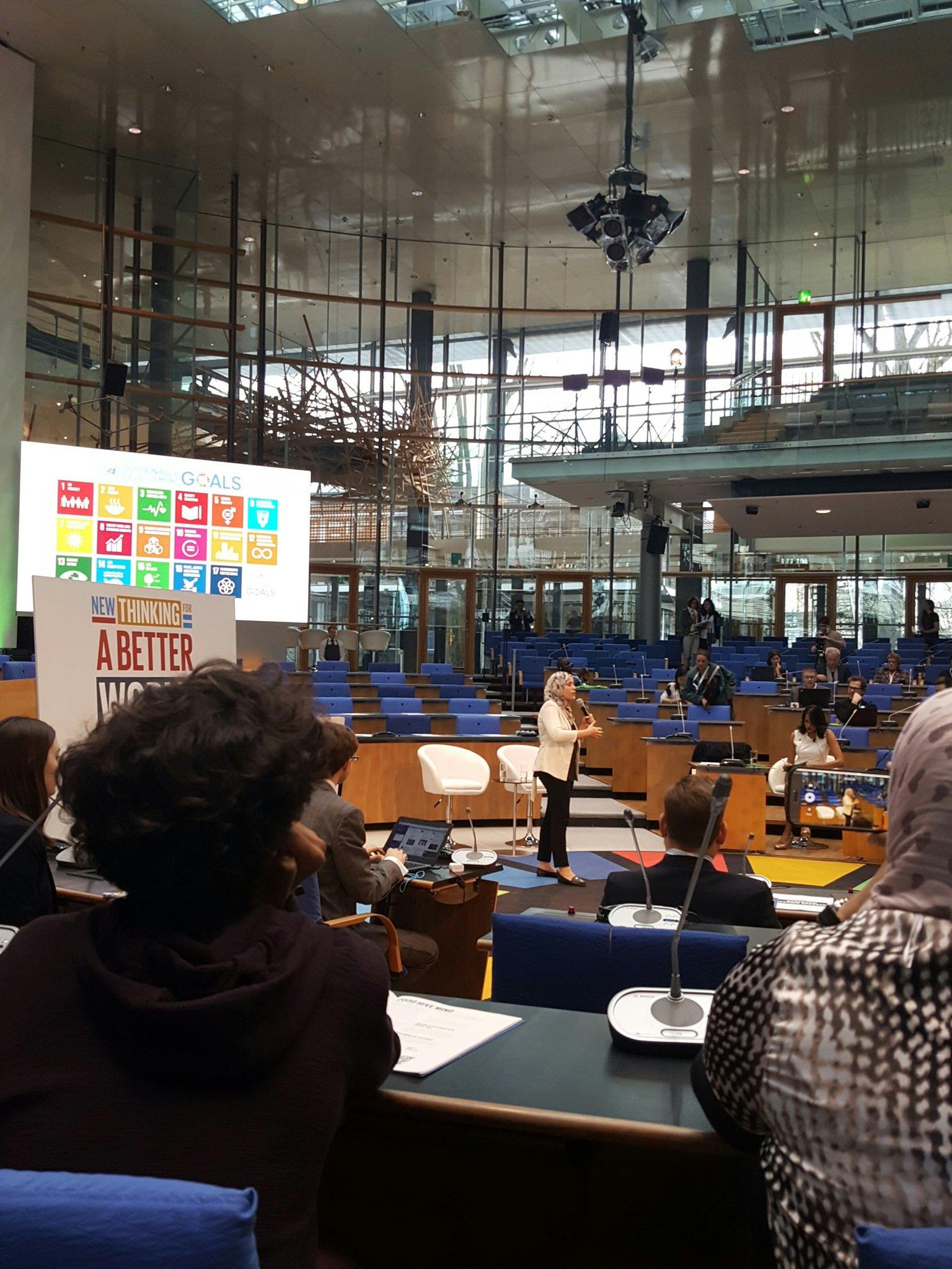 @almmura kicks off @GlobalFestIdeas discussing women's inclusion as an incredible catalyst across SDGS #GFI4SD #womensrightsarehumanrights https://t.co/V4Svfz6N3L