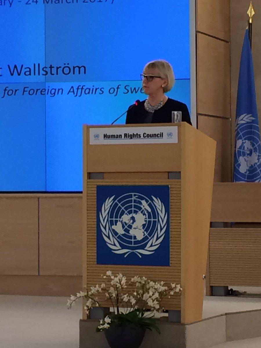 Women's rights are #Humanrights #HRC34 @margotwallstrom