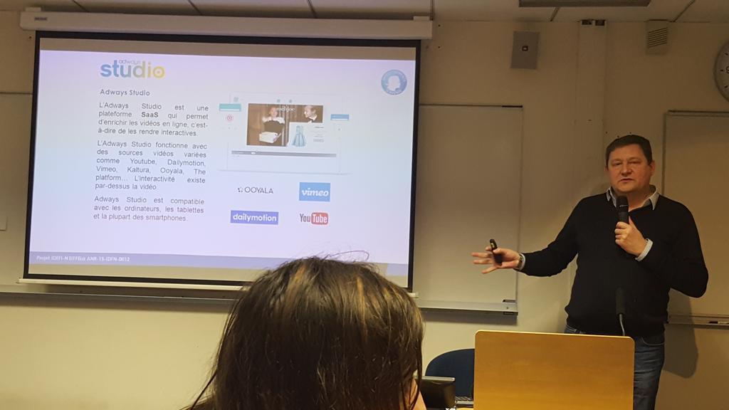Présentation de l'intérêt de la vidéo interactive pour l'accessibilité des MOOCs #EIFFELa de @FunMooc par @Adways_SAS https://t.co/q8tdCzDaRA