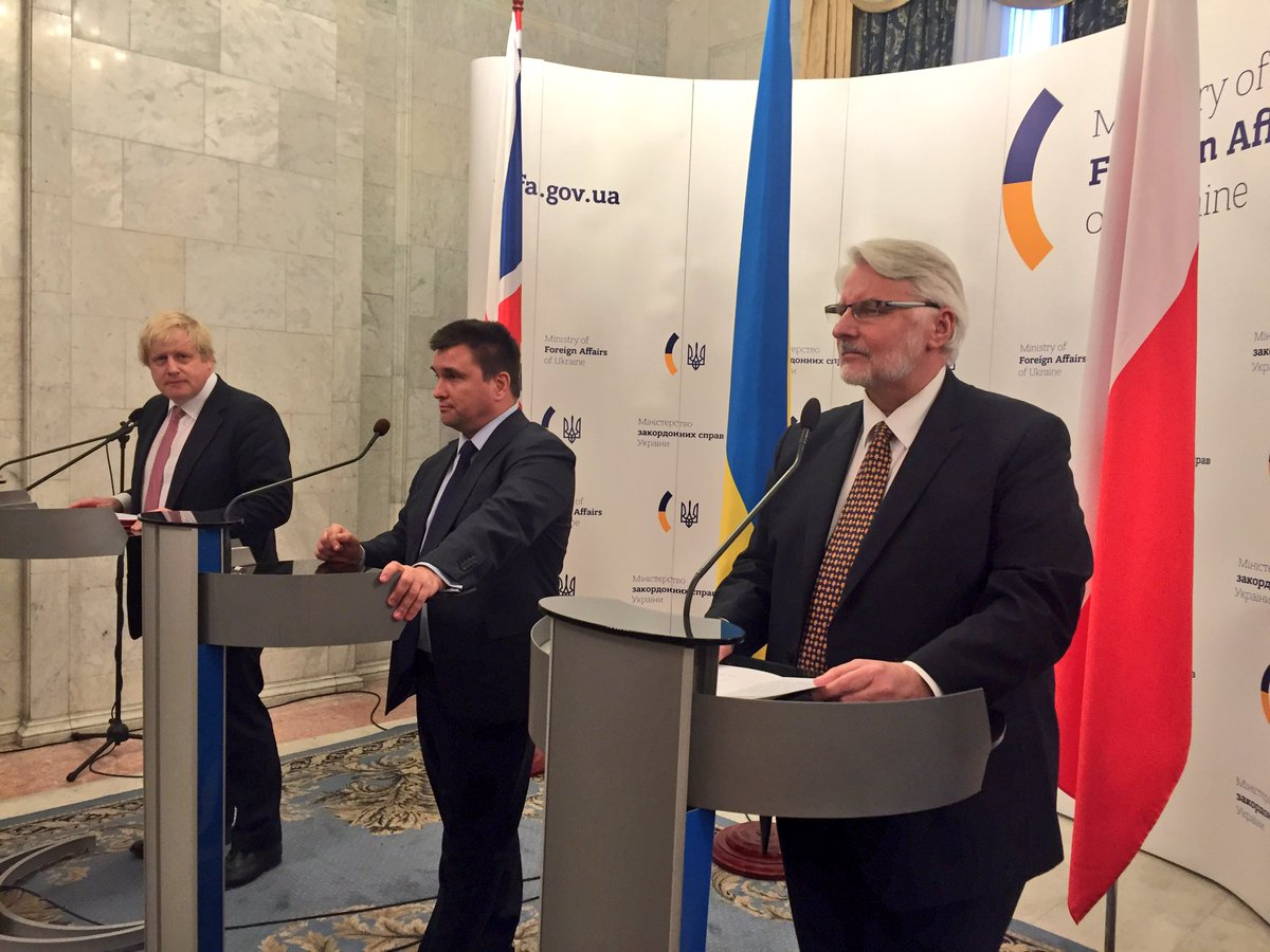 FM of Poland Witold Waszczykowski: We are here to call on Moscow to remove troops from Crimea and Donbas