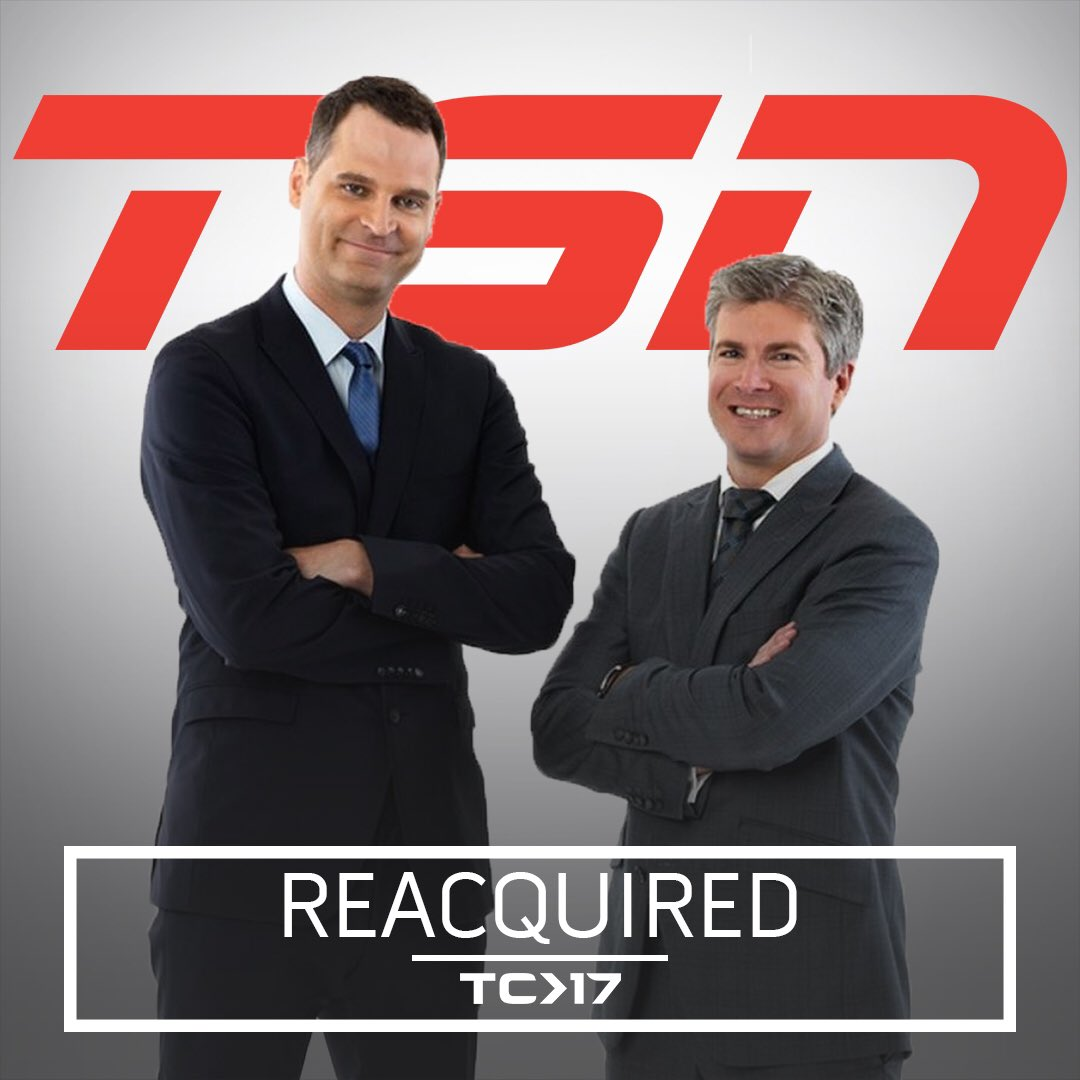 BREAKING: The biggest acquisition of #TradeCentre so far. Jay Onrait and Dan O'Toole will return to TSN. https://t.co/RUesKwhAfj