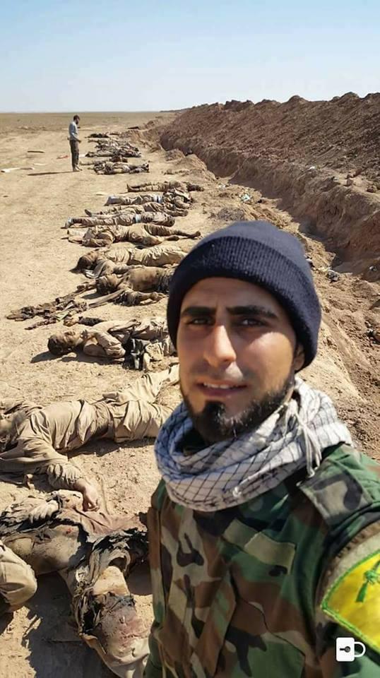 مع كتائب حزب الله ستشاهدون مثل هذه الصور كثيراً #العراق_مقبرة_الدواعش #داعش_يعترف_بالهزيمه https://t.co/0Ji8mhwp9m