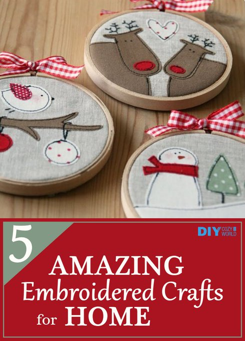 5 Amazing Embroidered Crafts For Home
