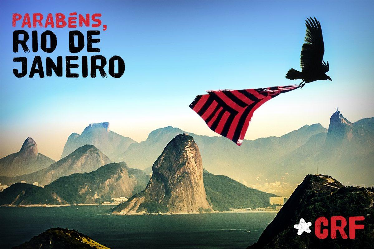 O Rio de Janeiro continua MENGO! Parabéns para a Cidade Maravilhosa! #Rio452