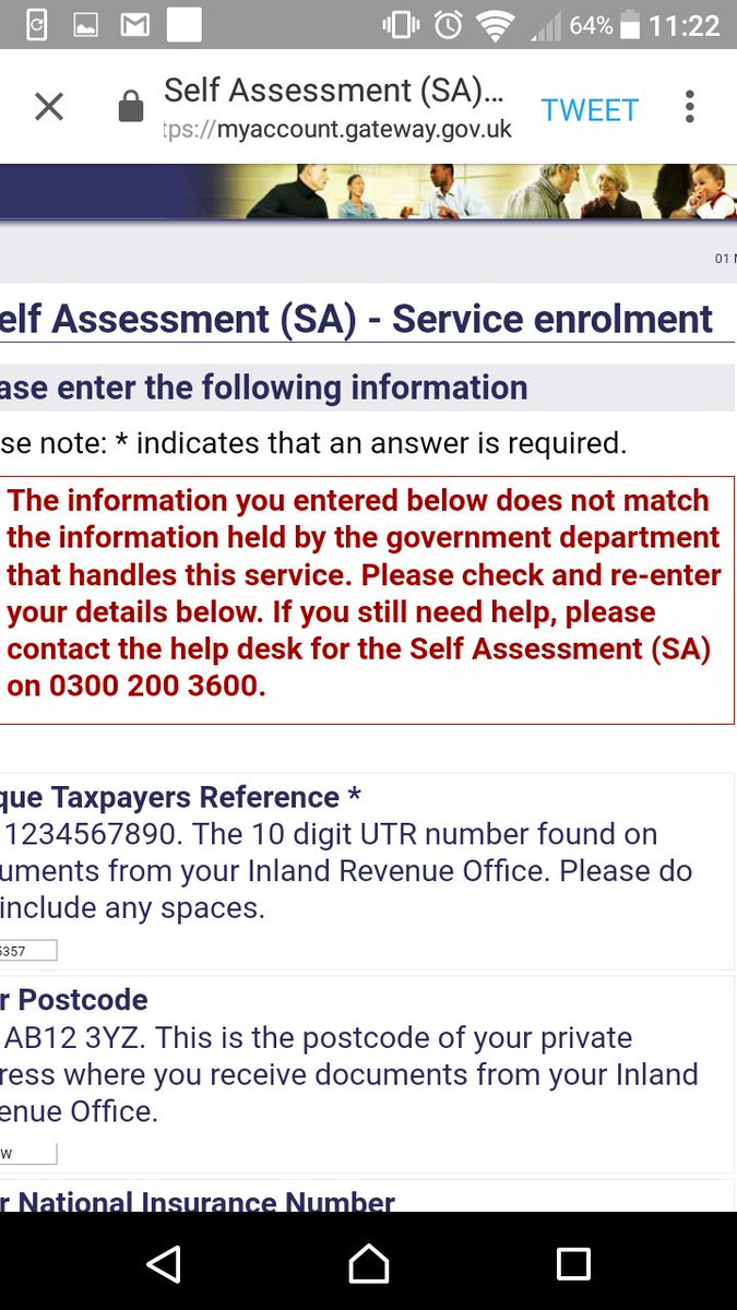 Government gateway login utr