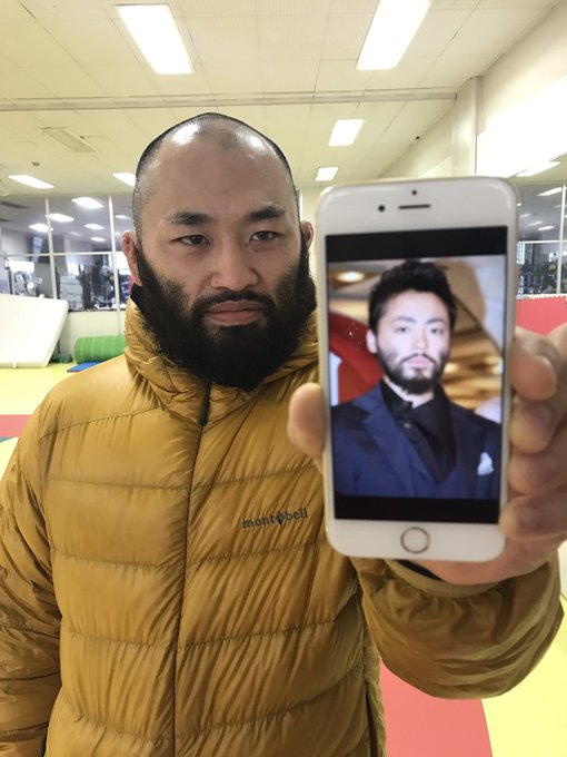 UFCファイターの安西信昌の髭が...