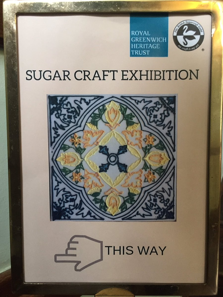 Have you been to see the #sugarcraft exhibition in the study yet? It's here until March 11th 🎂🍰🍫