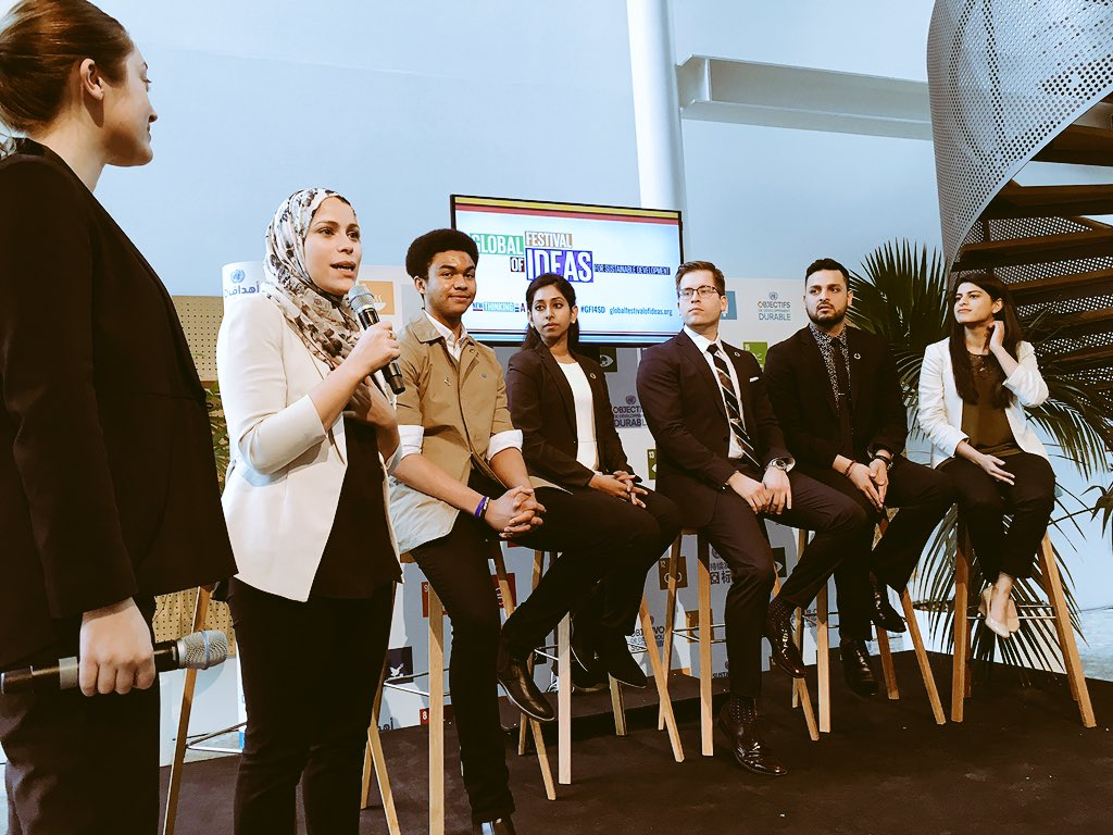 """I want to see more young people in policy"" << hearing SDG advocate  @almmura introducing inspiring young SDG interns #GFI4SD #futureunited https://t.co/uBnAXSPH3p"