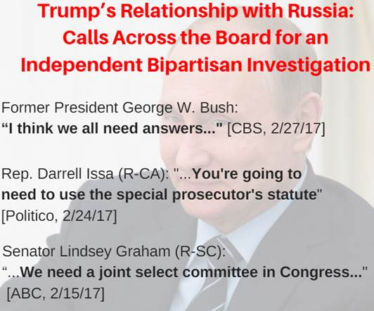 RT if you agree: Congress should establish an independent commission to investigate Trump's relationship with Russia  https://t.co/MrNOSB6uxW