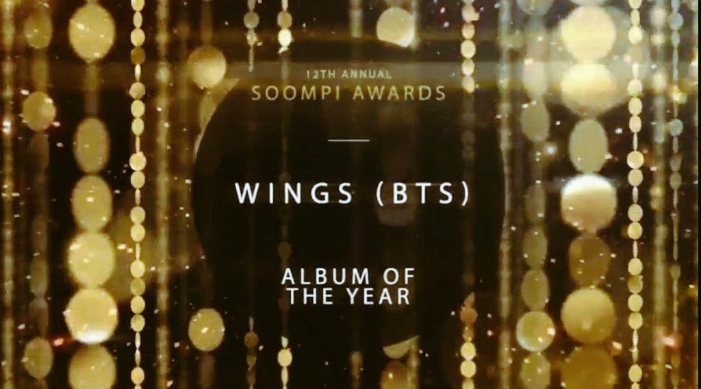 170301 WINGS(BTS)...Album Of The Year Blood Sweat &amp; Tears(BTS)...Song Of The Year Best Fandomได้ที่3 #TEAMBTS  #SOOMPIAWARDS #BTS #WINGS<br>http://pic.twitter.com/mGNe7wnvle