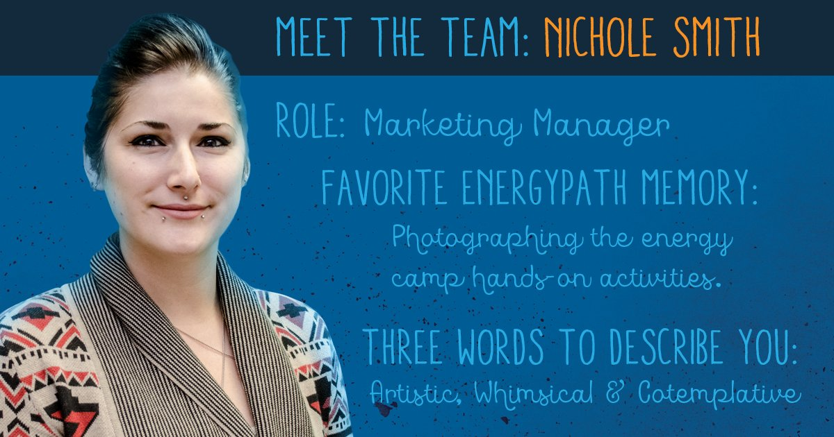 Today's #meettheteam post features Nichole Smith, who creates all graphics and marketing materials for Energypath #Energypath2017<br>http://pic.twitter.com/ZC3mEJYc3d