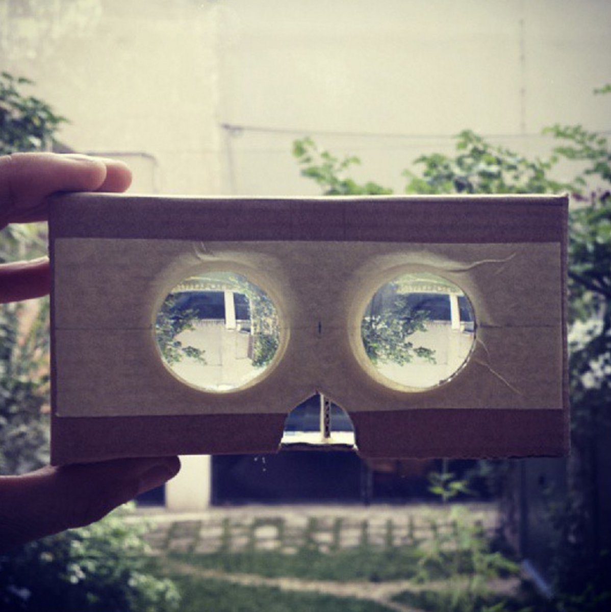 This is the very first Google Cardboard prototype. 10 million followed.