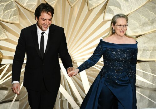 "\""Meryl Streep is a goddess.\"" - Javier Bardem Happy Birthday, Javier!"