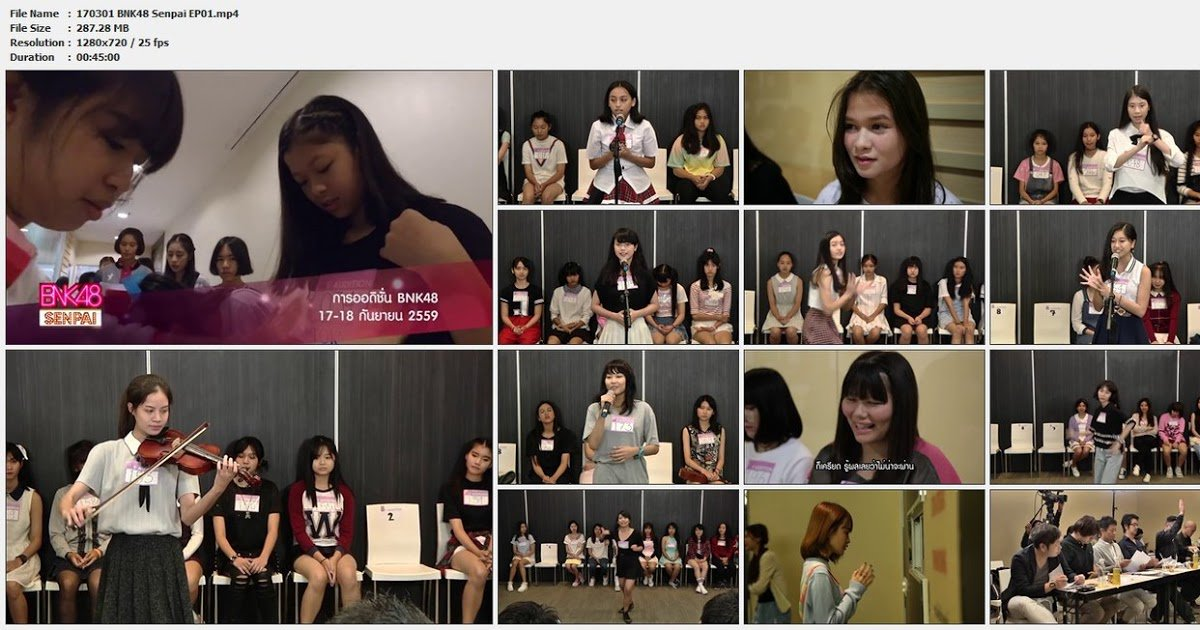 Download Variety Show BNK48 Senpai Full Episode Video