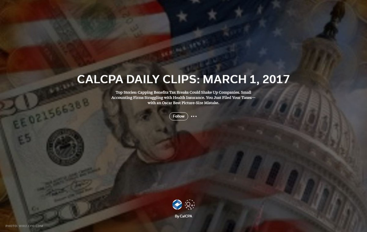 CalCPA Daily Clips: Future of Online Sales #Tax. Does #Amazon Control #Internet? How Much Shld U Save 4 #Retirement? https://t.co/1L7QZg0IV8