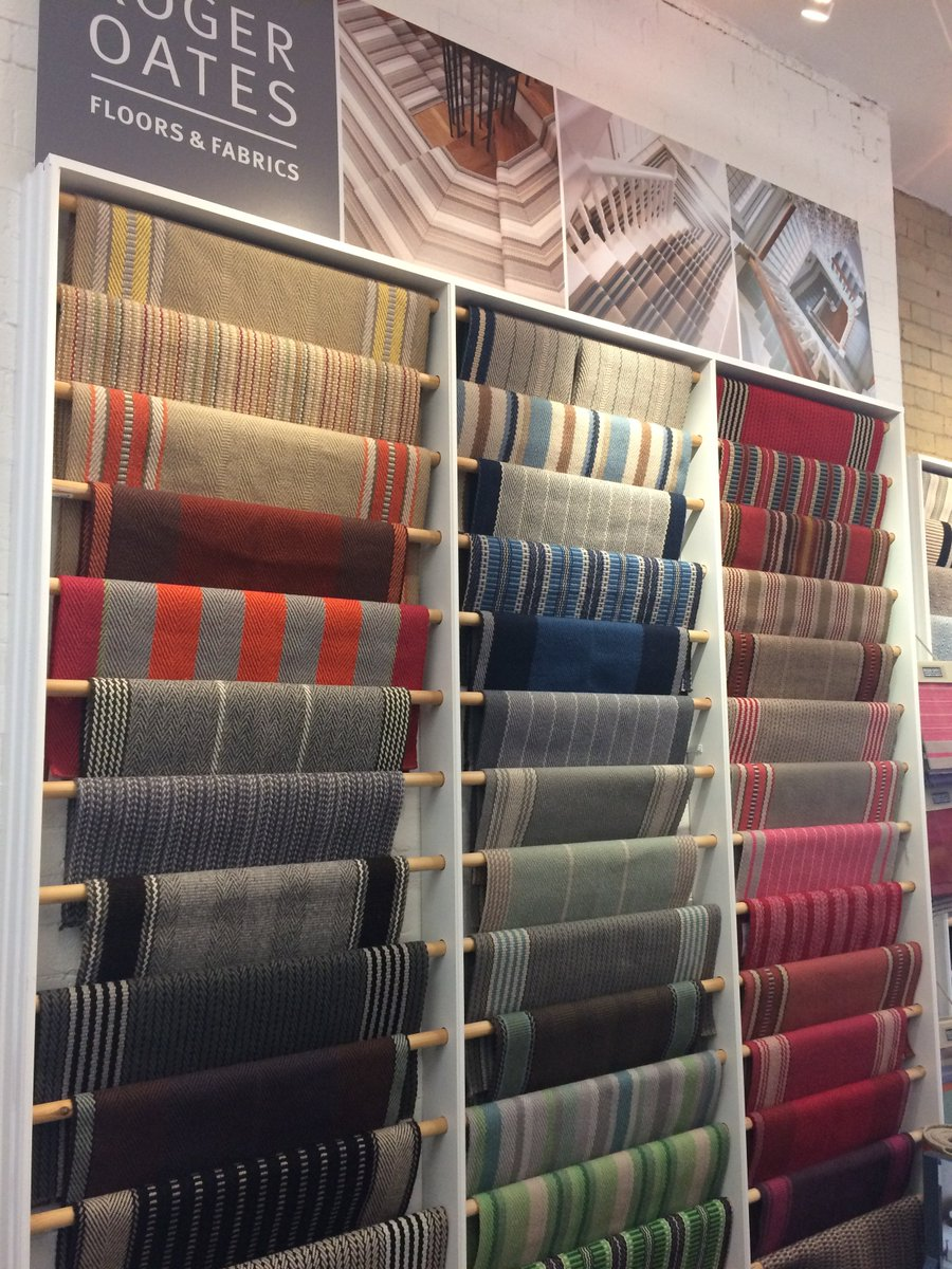 Such a beautiful collection, elegant and striking way to complement and fuse colour schemes #interiors #flooring #stairrunner #blackheath