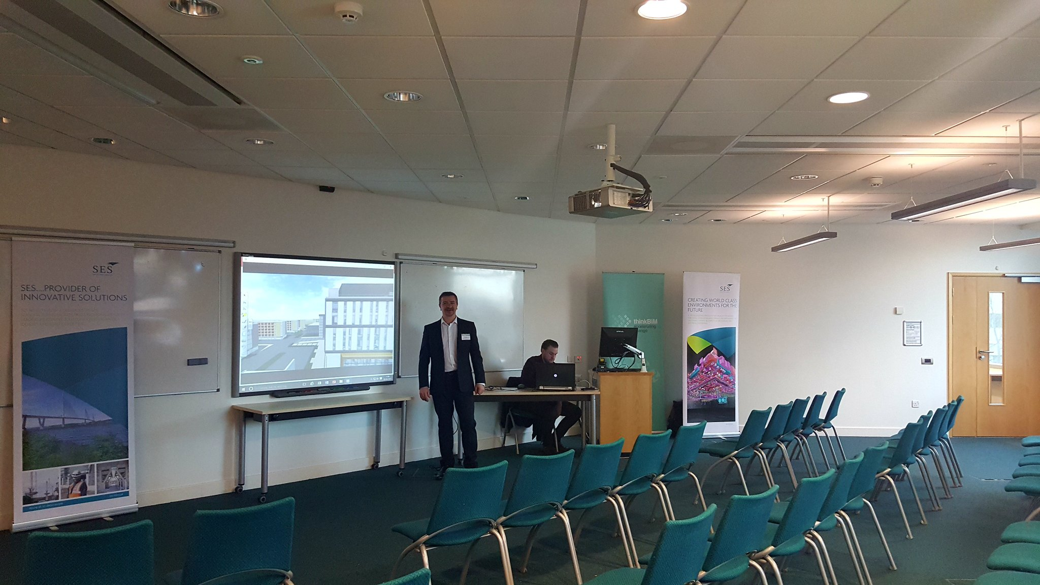 Set up & ready for tonights event with a live demo too! @WatesGroup #tbim2017 https://t.co/m5cvGQcIdy