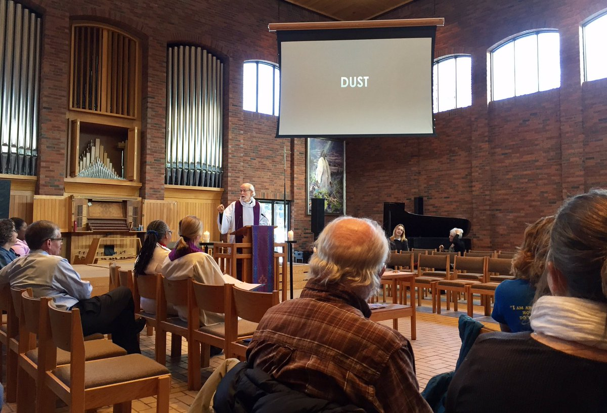 Many thanks to the Rev. Mark Hanson '68 for a thought-provoking homily during today's #AshWednesday chapel service. https://t.co/Wut7uczk2R