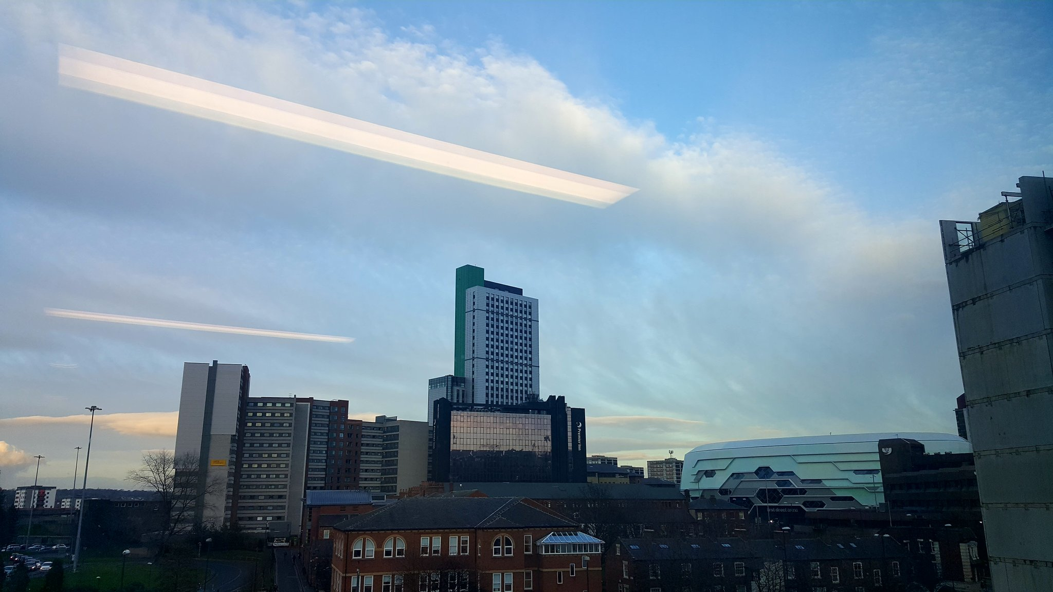 Gorgeous view of Leeds from the window for tonights @thinkBIM @WatesGroup @nick_tune @CalibreSimon set up & ready to go! #tbim2017 https://t.co/aRq72j3OYc