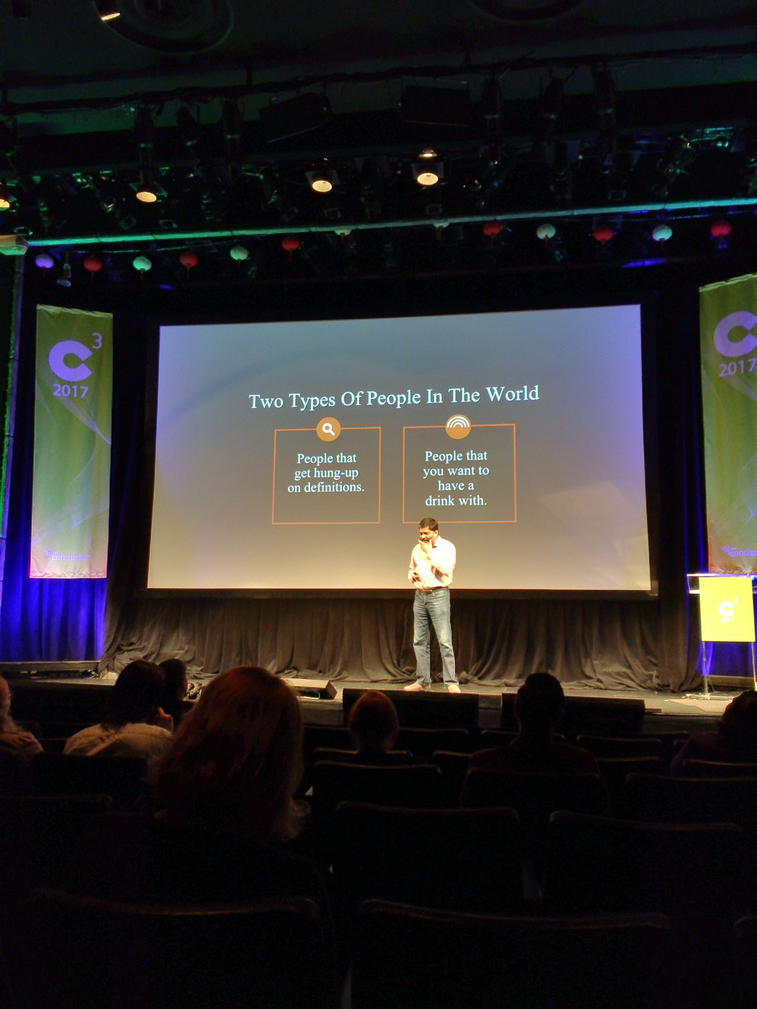 There are two types of people in the world - @dharmesh #C3NY https://t.co/t0QysmN9DF