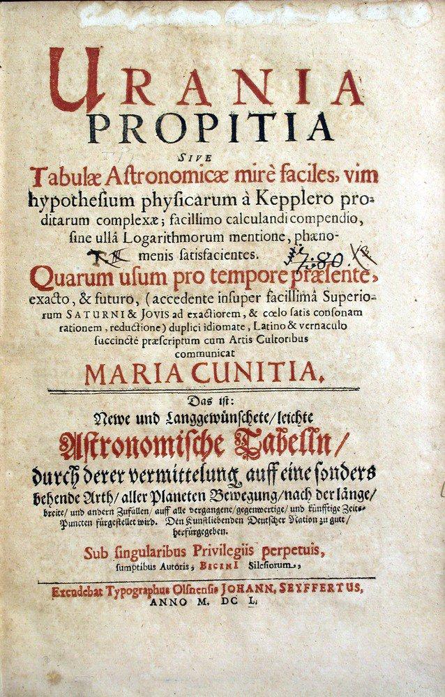 For #WomensHistoryMonth: astronomer Maria Cunitz (1610-64), author of Urania propitia (1650) @OUHOSCollection https://t.co/9gU0USUezJ https://t.co/uz9QKfdgKz