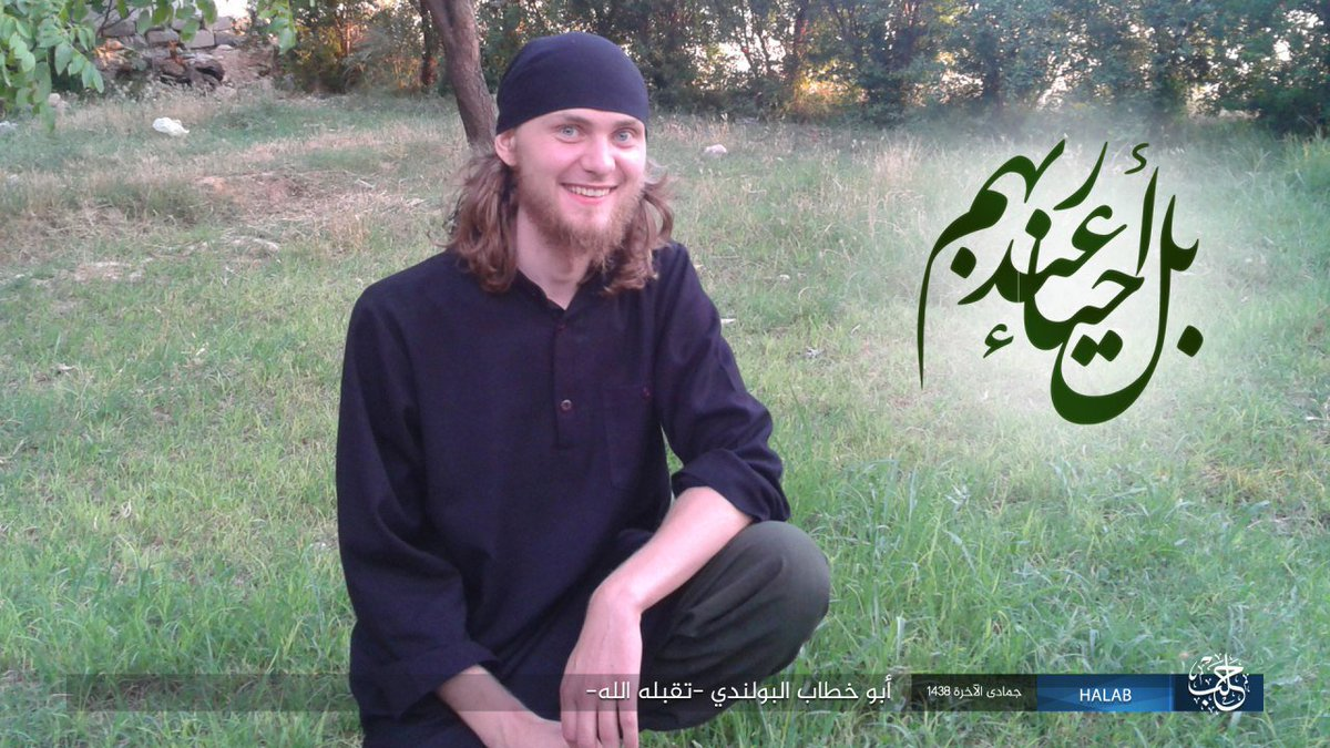 ISIS suicide bomber from Poland detonated in Aleppo countryside today