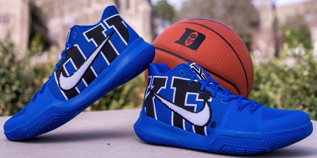 8a223d9b5d9 kyrie irving hooked duke up with custom pairs of kyrie 3s for final home  game of