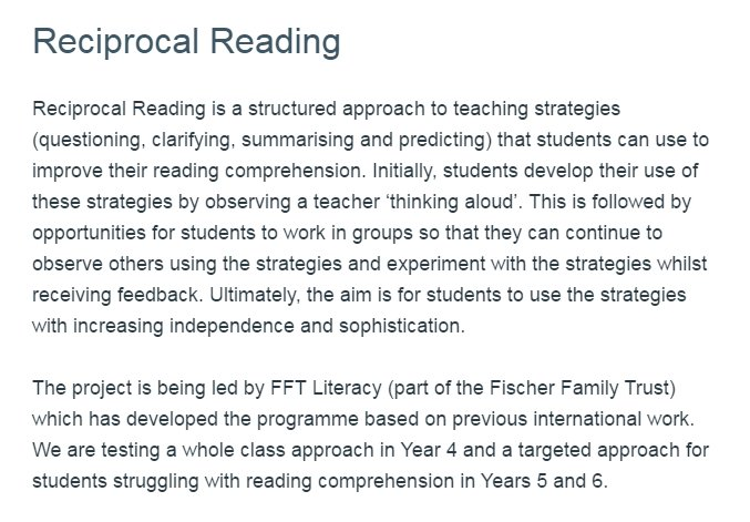 Eef on twitter now recruiting reciprocal reading key stage 2 a eef on twitter now recruiting reciprocal reading key stage 2 a structured approach to teaching reading comprehension strategies ibookread Read Online