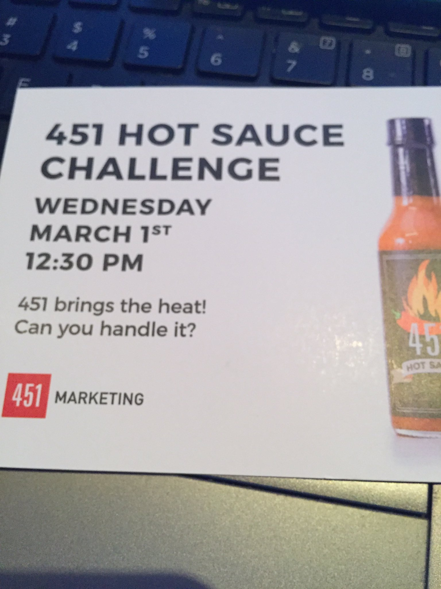 #nailedit hot sauce challenge completed 🙌🏼 @451Marketing #C3NY https://t.co/beWBRrP2rk