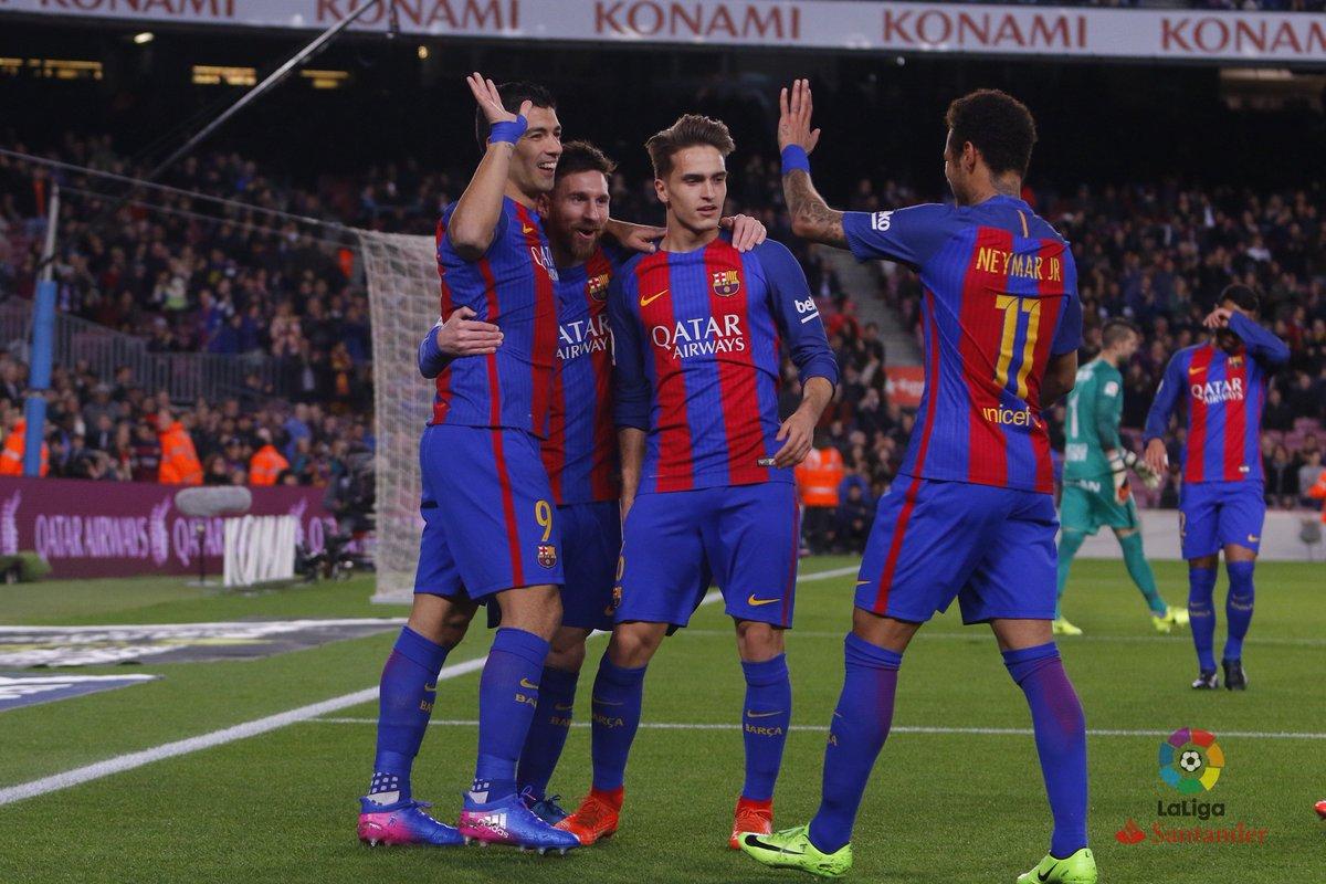 «Барселона» разгромила хихонский «Спортинг» вматче Примеры