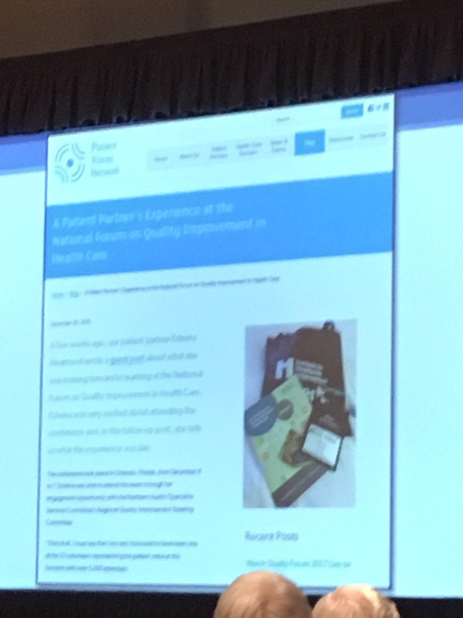 Woohoo. Shoutout from #SSCBC for the great work and blog by @PatientVoicesBC Member Edwina and #ClinicianAcademy Thank You! #QF17 #JCC17 https://t.co/awiCsGQKb3