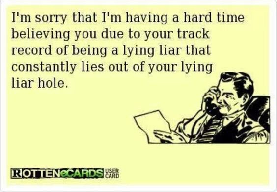 see the lying thing is a YUGE issue #liarTRUMP #Russia #Taxes #ComplicitGOP
