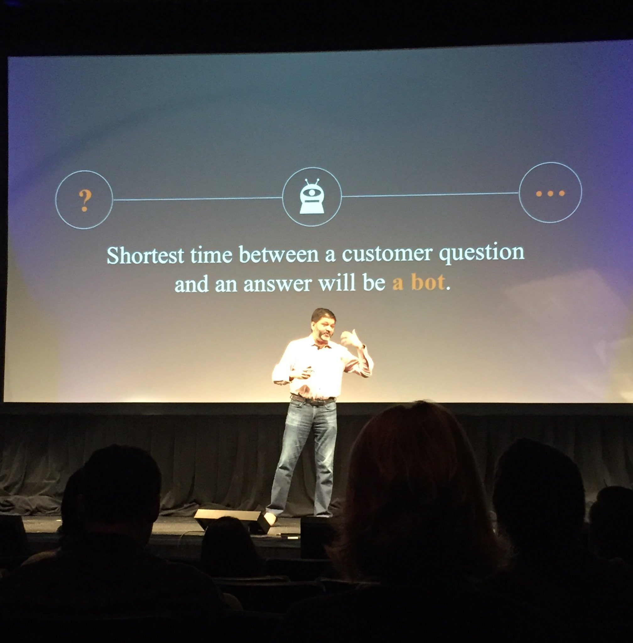 A.I.'s next big use will be customer service. Building customer-first marketers isn't far in our future. #C3NY #SEO @dharmesh https://t.co/qOqPH435Pu