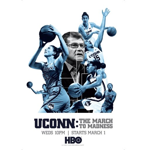 Can't wait to watch March to Madness tonight on @HBO at 10p - need to see if Geno is getting soft! #Huskies #Champs