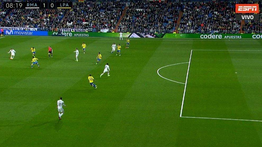 Isco est ligeramente adelantado en el gol avanza en for Fuera de juego real madrid