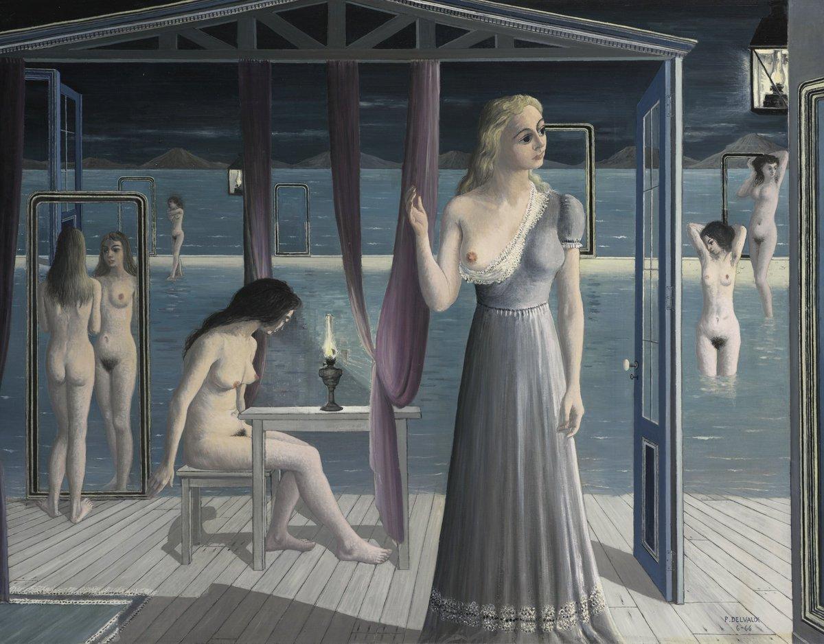 Картинки по запросу paul delvaux filles au bord de l eau