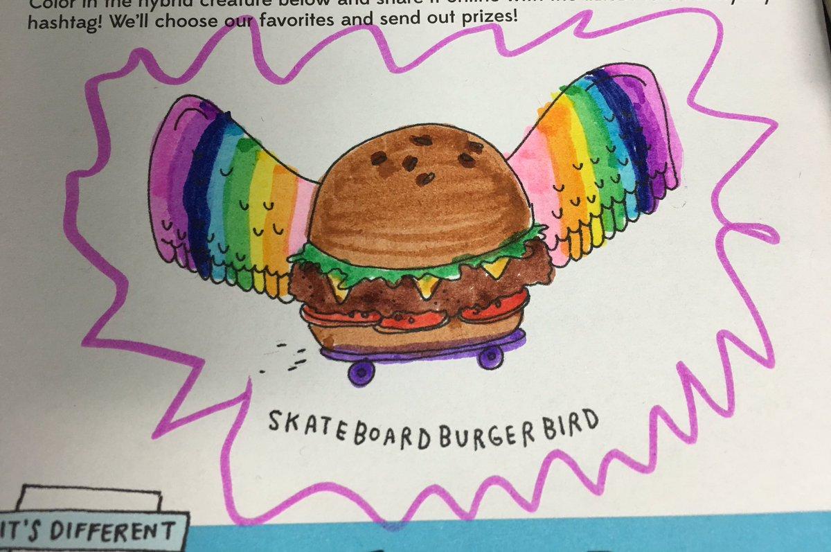 Skateboard Burger Bird! #ItsDifferentEve...