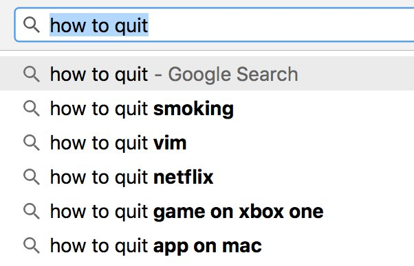 Here are top things people want to know how to quit. #vim https://t.co...